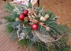 Typowy stroik świąteczny